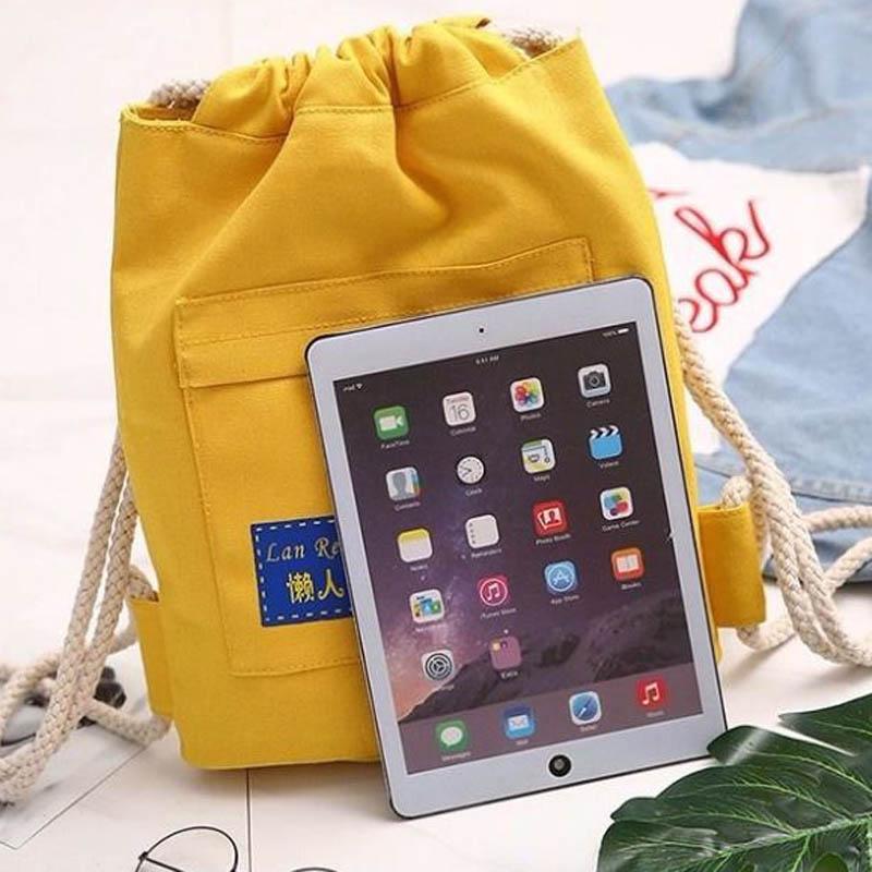 束口袋抽绳书包简易轻便补习书包运动双肩包