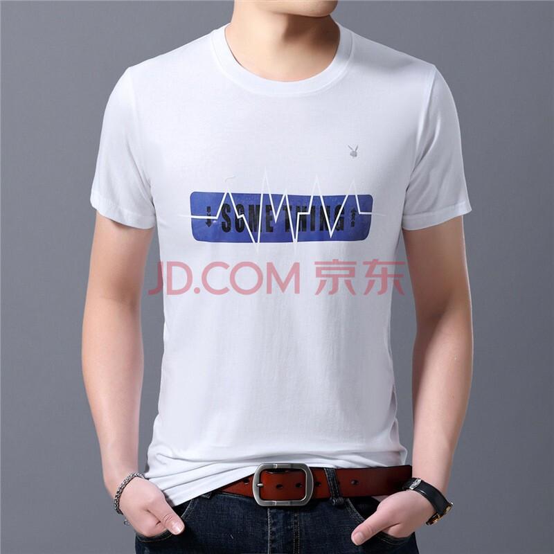 花花公子 100%纯棉短袖T恤