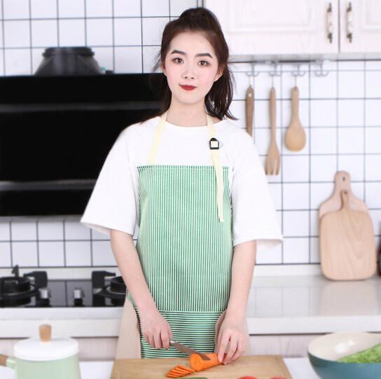 圍裙 廚房防水可擦手圍裙 韓版時尚工作服 防油圍腰