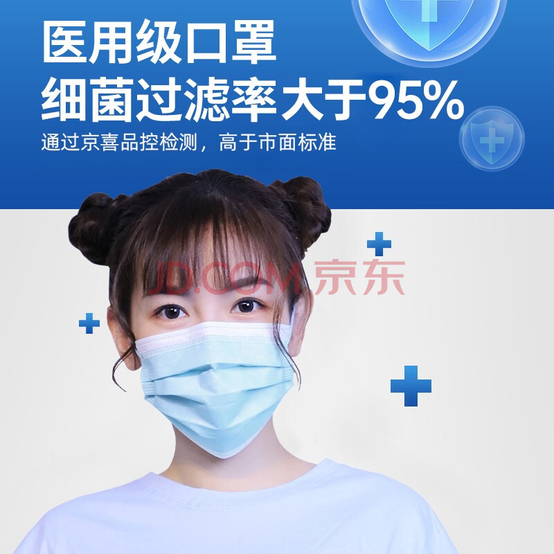 【京喜官方补贴】恒助医用外科口罩
